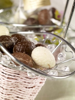 Sugar free Belgian Chocolate Easter Eggs - WHITE ONLY